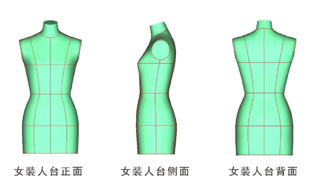 服装款式图手绘模型
