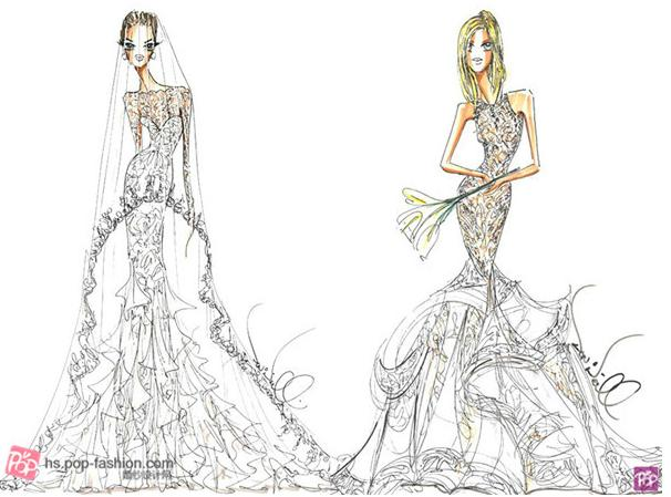 "Theia的创意总监Don ONeill选择家庭风格而非华丽好莱坞风格作为其为Jolie婚纱设计的灵感(左)。提及设计,设计师说道:""我从Jolie的孩子们的视觉出发,与她以往的标志性性感红毯礼服造型不同,打造出一个十分健康且富有成熟魅力的新娘造型。""他的设计师以长袖、法国尚蒂伊蕾丝叠层的鸡心领口紧身胸衣、真丝薄绸面料和薄纱贴花下摆为特色。""蕾丝花边还为这款极具戏剧性的真丝薄纱面纱增添了神秘感和诱惑力,""设计师补充道。 ONeill从Aniston在"